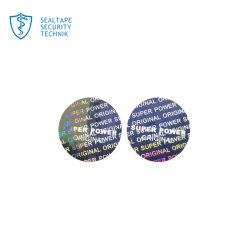 Безопасности голографические умирают листовой лазерный логотип на наклейке 3D Голографическая наклейка