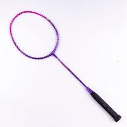 40t 100% de grafite de alta elasticidade Badminton Racket Professional Customized Super003