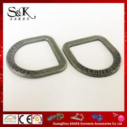 D Caixa de travamento do anel de cor prata antiga Fivela para cinto de ligas metálicas e sacos