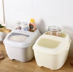 10kg de Plastic Container van het Voedsel voor huisdieren van de Doos van de Opslag van de Rijst van het huishouden