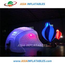 Tienda decoración iluminación inflables inflables tienda de iluminación LED para el evento o fiesta