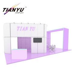 Sistema de Exibição de exposições de malha de alumínio com suporte para televisor