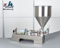 G1wg semi-automatique de la pâte et machine de remplissage de liquide pour l'eau et le thé et jus/miel/Alcool/Désinfectant