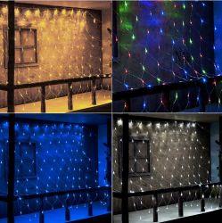 منظر كبيرة [إيمجلد] شبكة شبكة مسيكة ساحر خيط ضوء [ودّينغ برتي] إكليل زخرفة [كريستمس ليغت] مع 8 عمل [كنترولّرلد] شبكة شبكة [وتربروو]