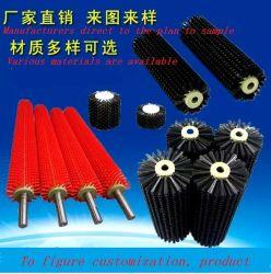 産業ブラシのローラー、ローラーのブラシの習慣、ナイロンブラシ、ステンレス鋼ワイヤークリーニングのフルーツのブラシのローラー、シリンダーブラシ