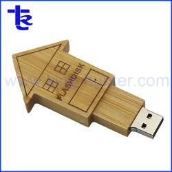Het huis gaf de Houten Aandrijving van de Flits USB voor de Minnaar van Pendrive van de Gift gestalte