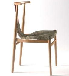 Modernos de fibra de poliéster personalizadas cojín acústica Hotel sillas de madera maciza de interior brazos Silla de Comedor