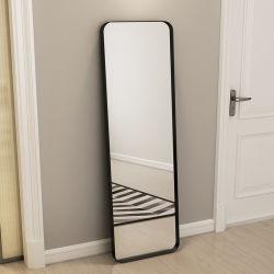 حديثة [مينيمليست] بيتيّة غرفة نوم حديد تركيب مرآة لباس مخزن أرضية مرآة [فيتّينغ رووم] [فولّ-لنغث ميرّور] [ولّ-موونتد]