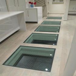 Segurança antiderrapagem laminado temperado escurecido frita de cerâmica no painel do piso de vidro de classe para a construção