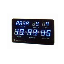 자동 무전기 시간 설정 전기 LED 디지털 월 캘린더 시계