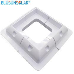 Color blanco del panel solar de plástico ABS de kits de soporte de montaje en esquina para RV Barco Bus