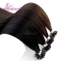 La nuova cheratina di arrivo U-Capovolge i capelli indiani di Remy di estensione dei capelli