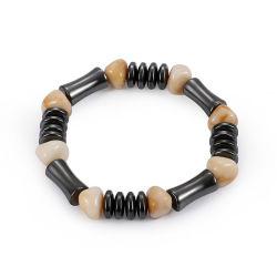 2018 Nouveau cordon de Résine d'étirement d'arrivée de l'Hématite Bracelet magnétique Hommes Femmes