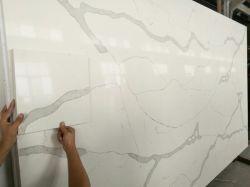 Kunstmatige Wit van de Steen van het kwarts/Grijs/van het Kwarts Calacatta/Cararra/Crystallized Aritificial Countertop/Vanitytop/Worktop (YQ - QC 001)