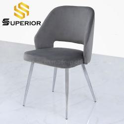 Interior de estilo nórdico Novo Design simples restaurante jantar cadeiras cromada