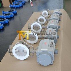 PTFE двухстворчатый клапан с маркировкой CE ISO Wras (CBF04-TA01)