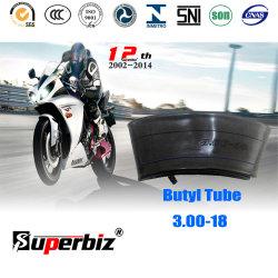 300-18 OEM novo Tr4 Butilo Válvula/Borracha Natural Motociclo tubo interior com a ISO
