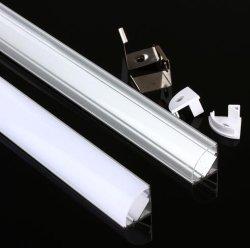 45 van de LEIDENE van het Profiel van het Aluminium van de Hoek van de graad Houder Lamp van Strook toont de Lichte 50cm voor OnderKabinet Geval het Stijve LEIDENE Kanaal van de Strook
