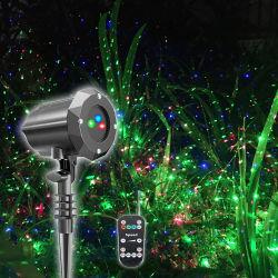 Resistente al agua con control remoto de RF de mover el proyector láser RGB luz para la fiesta de Navidad al aire libre