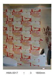 투명 배경 인쇄된 PVC 샤워 커튼