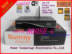 موالف كابل Se 210 Sunray 800HD Se DVB-C مع 300 م مستقبل كابل Wifi Dm800se