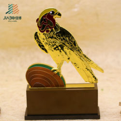 Custom Gold en alliage de zinc de gros oiseau Trophée Métal 3D avec la peinture émail (JIABO-JB1666)