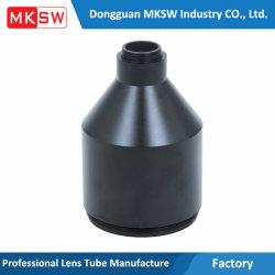 Óptica Industrial anodizado espejo Large-Angle piezas de mecanizado CNC de barril Accesorios