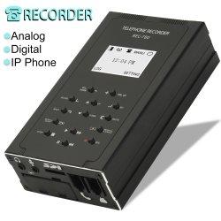 Gravador de voz de chamada telefônica, Automático/Manual de gravação de conversa por telefone