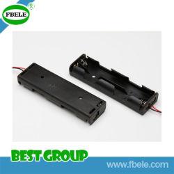 De plástico negro y titular de la batería del teléfono celular de metal