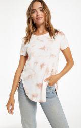 2021人の女性は短い袖プリントタイの染料のTシャツの100%年の綿の偶然の上の夏のティーを緩める