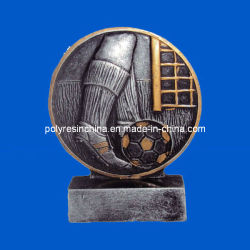 Polyresin trofeo de fútbol de los Premios manualidades