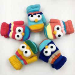 Zmsafety Inverno Personalizados Kids Padrão Bonitinho Luvas tricotadas Camada Dupla mais quente de veludo Mitenes com corda