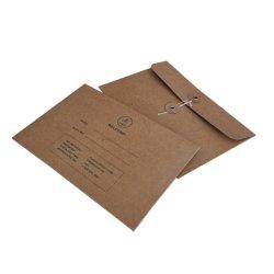 カスタム印刷 Kraft Cardboard パッケージ文字列エンベロープ
