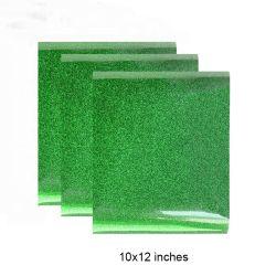 Comercio al por mayor 12*10en coreano Htv película imprimible reflectante Vinilo Glitter de hierro en la hoja de papel de transferencia