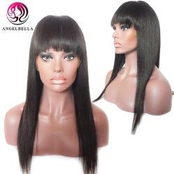جمليّة مستقيمة شعر شعرة شعرة شعرة برازيليّة [ريمي] شعر [ويغس] مع بانج