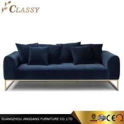 Tecido de veludo modernos assentos estofados sofá com Almofada Traseira do Assento confortável