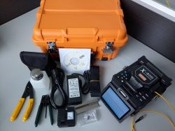 Qualitäts-verbindene Maschinen-Faser-Kabel-Geräten-optisches Schmelzverfahrens-Filmklebepresse