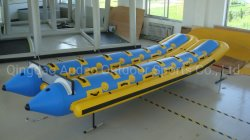 El tubo de PVC de alta velocidad lona seis asientos ocho plazas para niños y adultos bote banana inflable