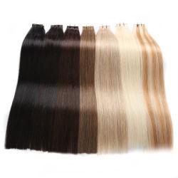 Prezzo all'ingrosso 12--nastro invisibile bianco blu dei capelli umani di 28inch 100% nella doppia estensione dissipata dei capelli di Remytape