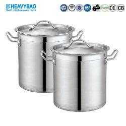 Heavybao Hot Sell Kookware RVS Stock Soup Pot for Restaurant