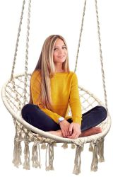 Handmade Macrame Hamac Chaise de pivotement
