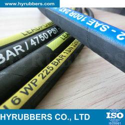 Trenzado de alambre de acero flexible, manguera de caucho resistente al aceite hidráulico