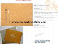 Capa de Papel Kraft lavável Eco-Friendly Coasters Mat placemats de mesa