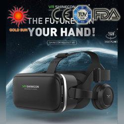 Casque VR 3D des lunettes de réalité virtuelle -pour les films 3D des jeux vidéo Confortable lunettes Vr avec casque réglable stéréo compatible avec tous les IOS/Smartph Android
