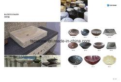 طبيعيّة صوّان/رخاميّ حجارة مرجل لأنّ غرفة حمّام حوض/بالوعة