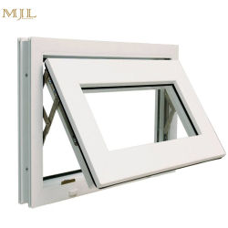 Petite taille Salle de bains extérieure en verre dépoli Hung auvent Fenêtre supérieur en aluminium