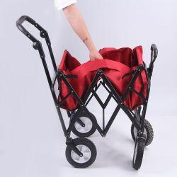 Hantechn buena calidad de servicio pesado de las 4 ruedas Jardín cómoda herramienta carro/coche verde jardín jardín al aire libre