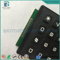 Tastiere di gomma del tasto e di tasto del telefono del silicone del tasto elettronico conduttivo dei tasti delle tastiere del silicone personalizzate fabbrica
