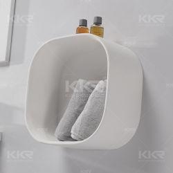 Kundenspezifisches Badezimmer-Wand-Regal-sich hin- und herbewegendes Zahnstangen-Shampoo-Regal
