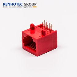 A cor vermelha CAT6 Ethernet RJ45 Conector de montagem em painel